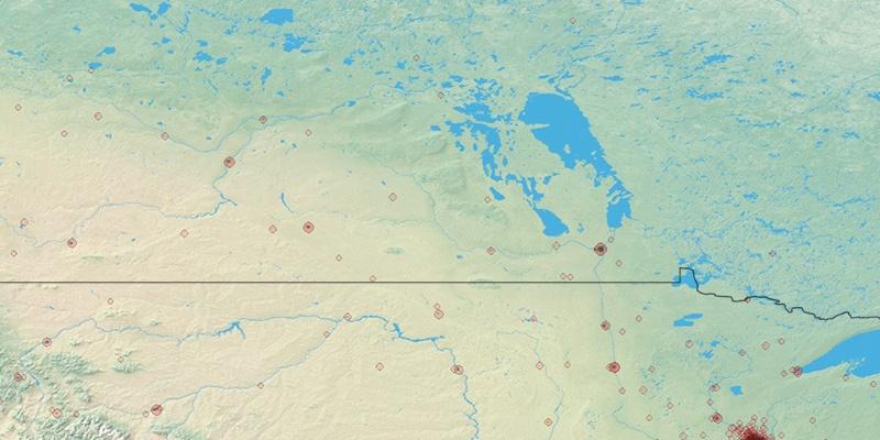 Winnipeg Population - Us and canada population density map